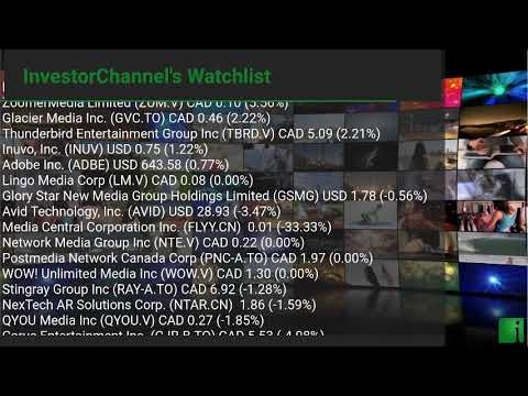InvestorChannel's Media Watchlist Update for Friday, Octob ... Thumbnail