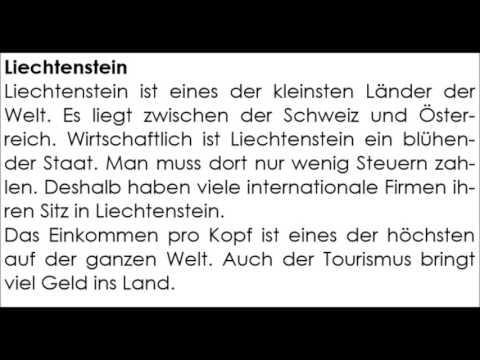Lesetext Liechtenstein