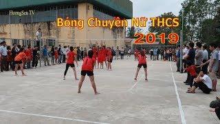 Bóng chuyền nữ học sinh cấp 2 Thạch Thành 2019    Thành Mỹ &  Thành Long