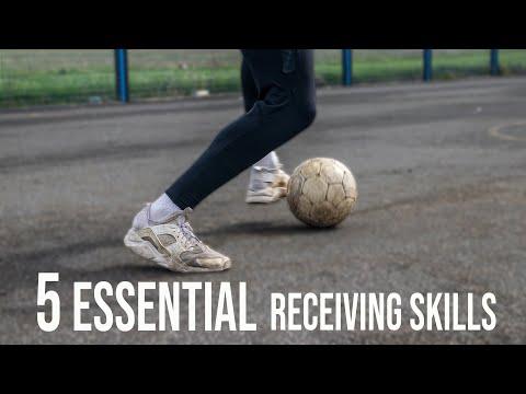 5 Essential Receiving Skills | Football Skills For Beginners