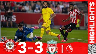 Highlights: Brentford 3-3 Liverpool   Salah scores 100th Liverpool league goal but Reds held