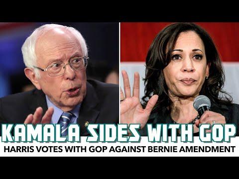 Kamala Harris Votes With GOP Against Bernie Amendment