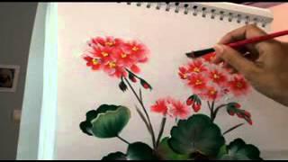 Dibujos para pintar flores de primavera en linea