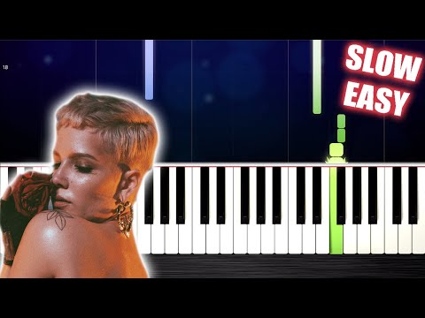 Halsey - Without Me - SLOW EASY Piano Tutorial by PlutaX