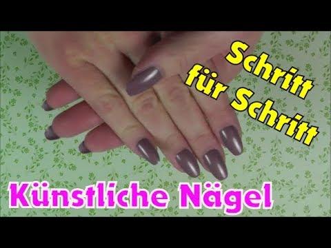 Nägel aufkleben und lackieren (Künstliche Nägel von Rossmann) | Nagelkleber fail...