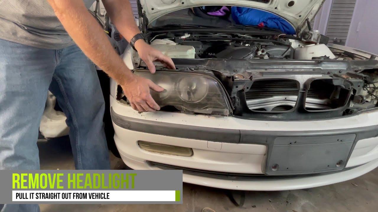 BMW E46 Headlight Removal 1999-2005 3 Series Sedan/Wagon