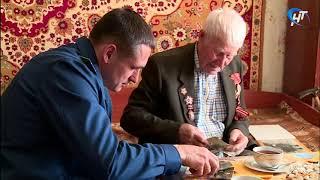 Прокурор области Андрей Гуришев поздравил с приближающимся Днем Победы ветерана Владимира Васильевича Назарова
