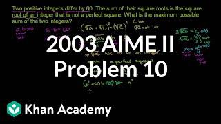 2003 AIME II Problem 10