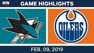 NHL Highlights | Sharks vs. Oilers - Feb 9, 2019