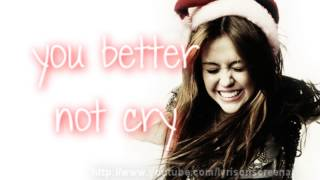 Miley Cyrus - Santa Claus Is Coming To Town - Lyrics Video