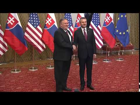 Secretary Pompeo Meets with Slovak Prime Minister Peter Pellegrini, in Slovakia
