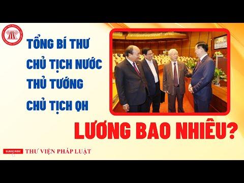Lương Tổng Bí Thư, Chủ Tịch Nước, Thủ Tướng Chính Phủ Và Chủ Tịch Quốc Hội
