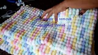KNITTING SHOWING YOU MY FINISHED KNITTED BABY BLANKET