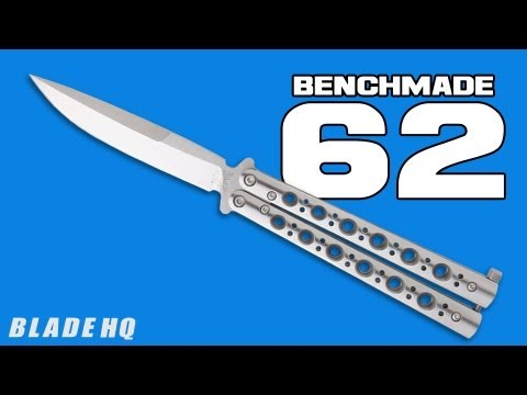 "Benchmade 62 Balisong Butterfly Knife Stainless Steel (4.25"" Satin)"