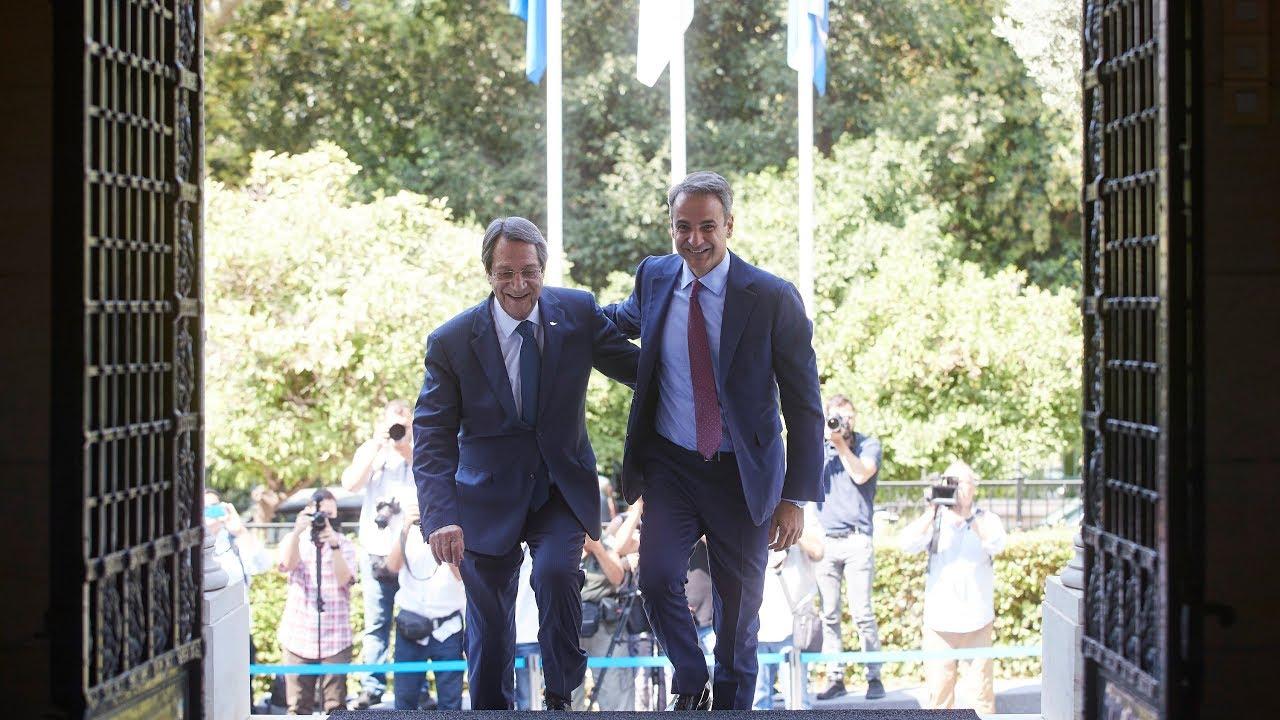 Συνάντηση του Πρωθυπουργού Κ. Μητσοτάκη με τον Πρόεδρο της Κυπριακής Δημοκρατίας Ν. Αναστασιάδη