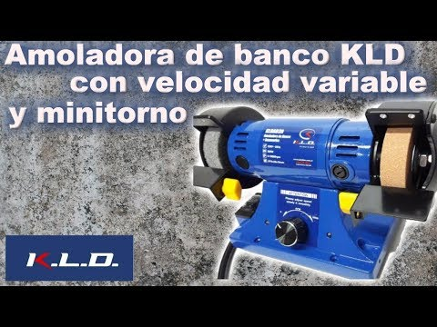 Amoladora de banco KLD con velocidad variable y minitorno KLDAB3R.