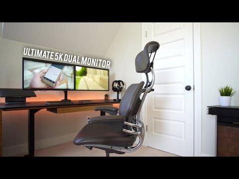 Ultimate Macbook Pro 5K Dual Monitor Desk Setup Tour!
