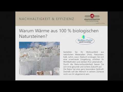 Natürlich und wirtschaftlich Heizen, mit der eurotherm Natursteinheizung - Karl Frischholz