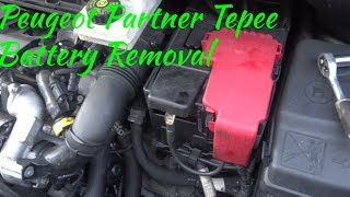 How to remove battery and replace on peugeot 307, 308 and