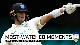 Top 10 most-watched moments of the Marsh Sheffield Shield season