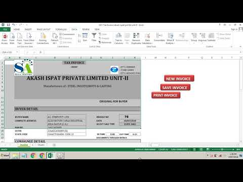 EXCEL AUTOMATIC TAX INVOICE GST SPECIAL