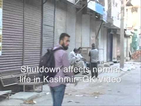 Shutdown affects life in Kashmir