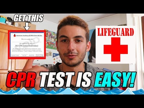 HOW TO SURVIVE THE CPR CERTIFICATION TEST! (*3 MAJOR TIPS*)