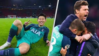 TOTTENHAM PLAYERS CELEBRATE GETTING TO CHAMPIONS LEAGUE FINAL!Pochettino Son Heung Min 손흥민 and Lucas