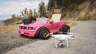 Drone Races The 70MPH Barbie Car 4K