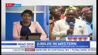 President Uhuru Kenyatta woos voters in Western ahead of the repeat presidential elections