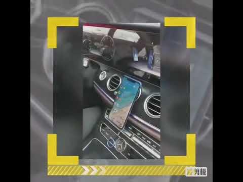 Магнитный держатель для телефона в машину на клипсе Floveme черный (FE-20202) Video #1
