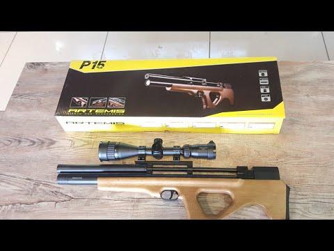 Artemis P15 PCP Air gun unbixing and review HD - смотреть онлайн на