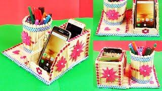 Beautiful Pen Stand With Icecream Sticks Free Online Videos Best