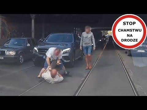 Kierowca kontra pieszy  bójka na jezdni we Wrocławiu