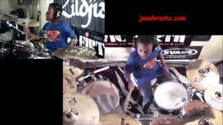 Def Leppard - Lady Strange, 10 Year Old Drummer Jonah Rocks