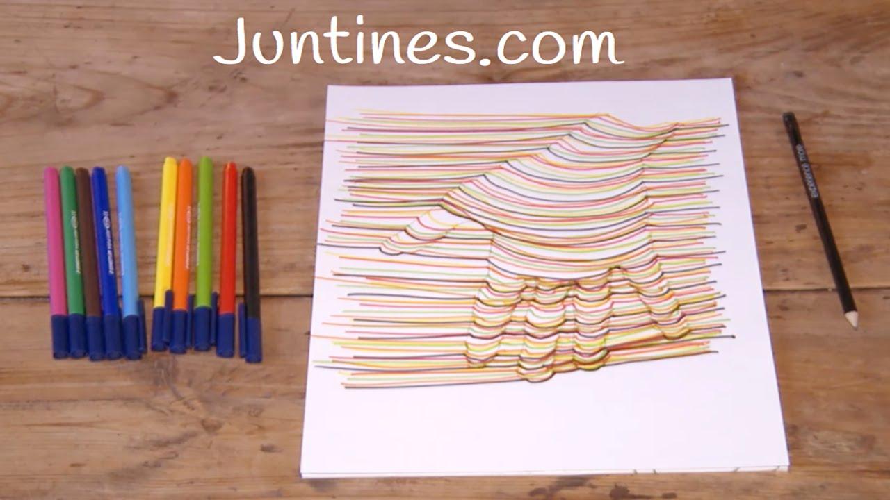 Cómo dibujar una mano en 3D