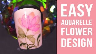 Quick And Easy Aquarelle Flower Design