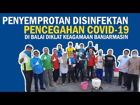 Penyemprotan Disinfektan untuk Pencegahan COVID-19 di Balai Diklat Keagamaan Banjarmasin