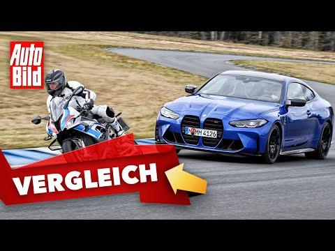 BMW M4 vs. M 1000 RR (2021) | Sportwagen trifft auf Super-Bike | Vergleich mit Jan Horn