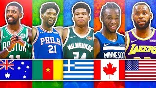 RANKING THE BEST NBA PLAYER FROM EACH COUNTRY