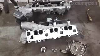Mercedes s class cls etc om642 v6 engine cdi oil leak from the mercedes om642 oil cooler replacement lkhler erneuern fandeluxe Gallery