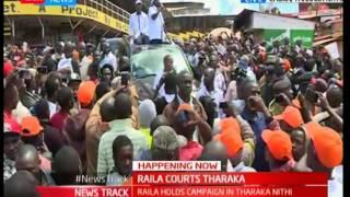 Raila Odinga addressing Tharaka Nithi residents