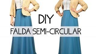 Falda semi- circular DIY