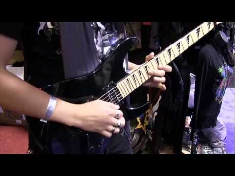 NAMM 2013 21 year old guitarist Toni Aleman at Rock-n-Roll GangStar booth HD