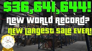 GTA Online Biggest Sale Ever $36,641,644 One Day! New World Record? Selling All Businesses