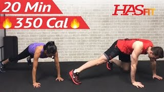 20 Minute Fat Burning HIIT at Home Cardio Workout Without Equipment Full Body Workout No Equipment by HASfit