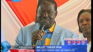 Raila Odinga to head to court over ballot printing tender as the Church offers to mediate