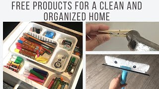 Free Products For A Clean And Organized Home   No Money Organization