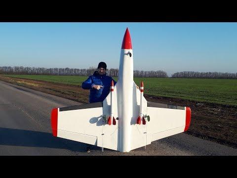 Реактивный самолет - краш аэродрома и запуск ракет с борта видео