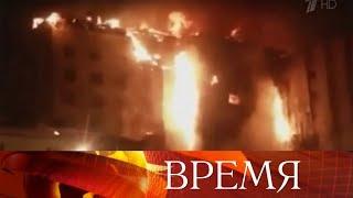 В Тюмени сгорел девятиэтажный многоквартирный жилой дом, один человек погиб и один пострадал.